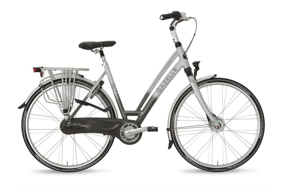 lage rugbelasting door vering in de fiets